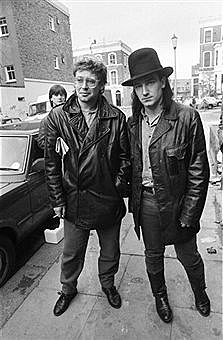 Bono and Adam Clayton Band Aid 1984