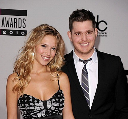 Michael Buble and model Luisana Loreley Lopilato