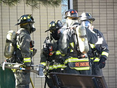 Blevins Middle School in Fort Collins, PFA Firefighters on scene Nov. 18, 2011