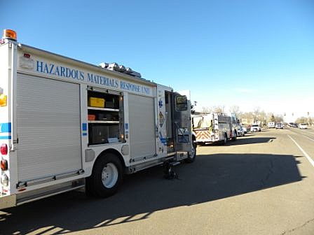 Poudre Fire Authority arrives at Blevins Middle School Nov. 18, 2011