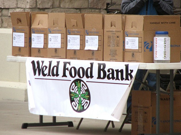 Weld Food Bank boxes