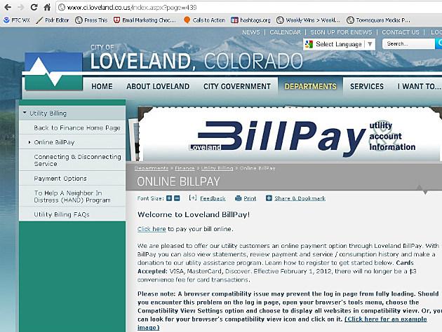 City of Loveland Bill Pay