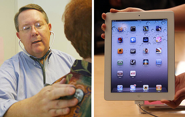 Doctor and patient/iPad