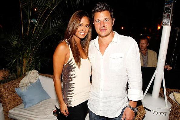 Vanessa Minnillo and singer Nick Lachey