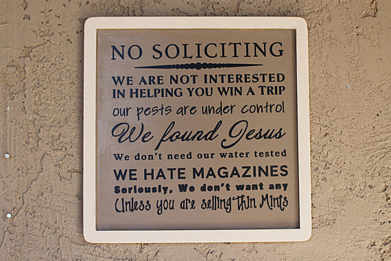 Funny no soliciting signs - Funny soliciting signs ...