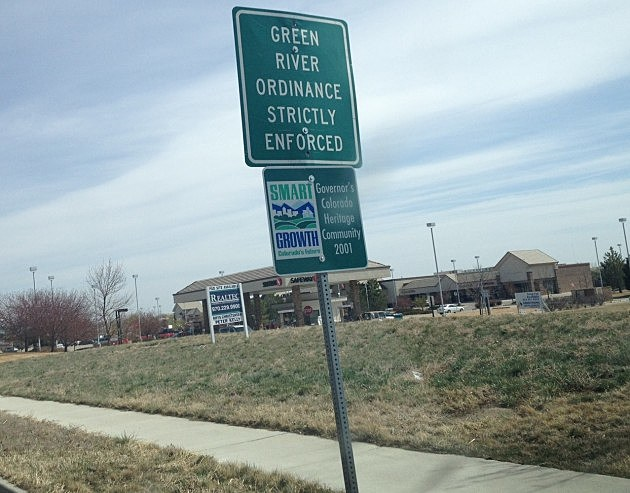Green River Ordinance Sign, Windsor, Colorado
