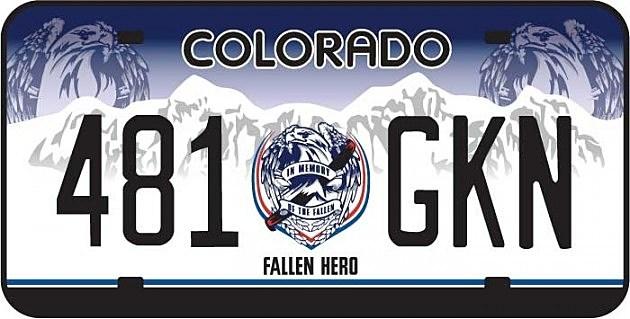 Colorado Fallen Hero Plate