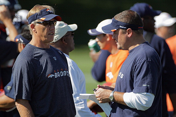 John Elway, Executive Vice President of Football Operations and Brian Xanders