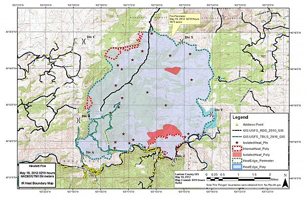 Hewlett Fire Map