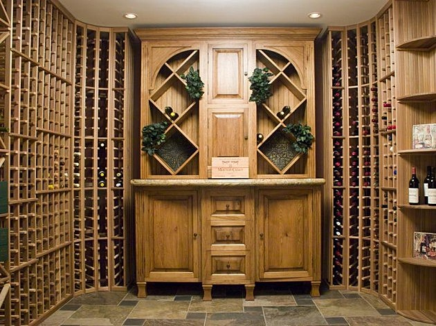 Wine cellar in Manning's new Colorado home