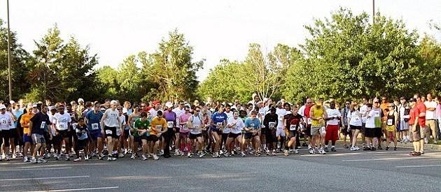 Runners take their mark