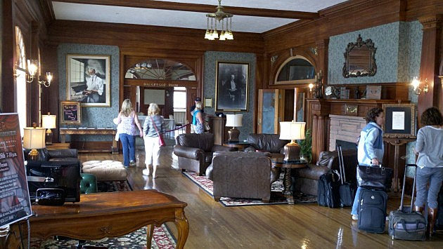 The lobby at The Stanley hotel in Estes Park