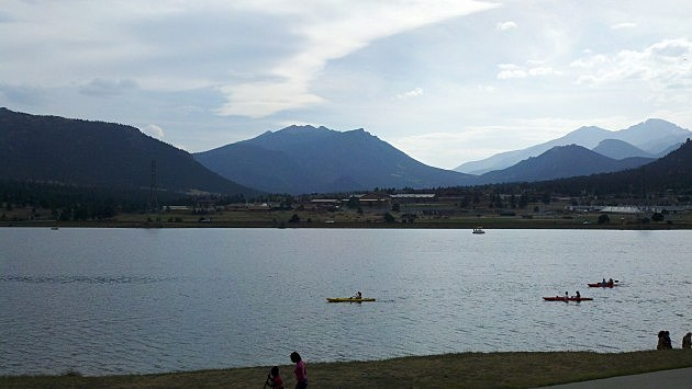 Lake view in Estes Park
