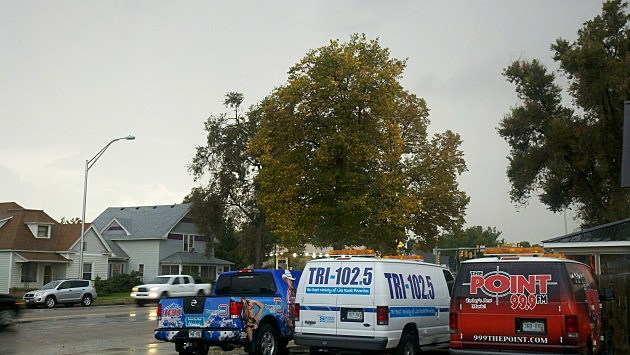Thunderstorm outside the TRI-102.5 studio