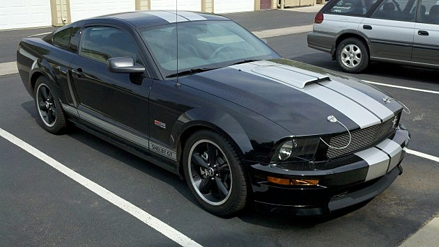 The Mustang GT 500 Shelby that Drew sees every day!