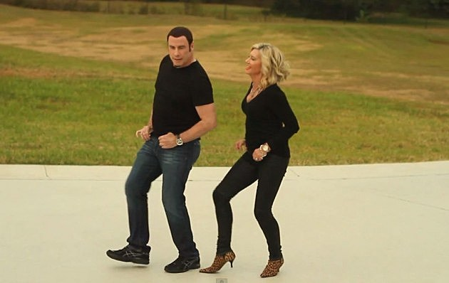 John Travolta and Olivia Newton-John in their new music video