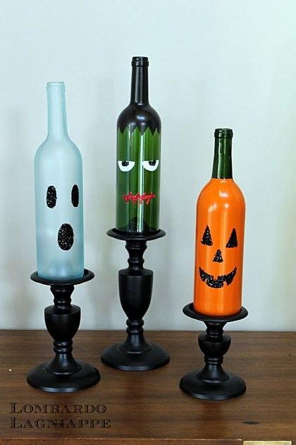 creative things to do with empty wine bottles pictures