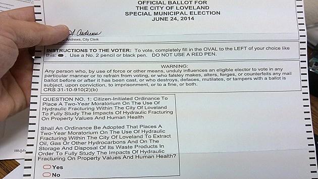 Loveland Special Election Ballot
