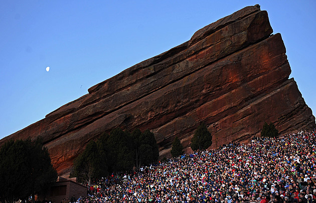 Worshippers Celebrate Sunrise Easter Mass At Red Rocks Amphitheater