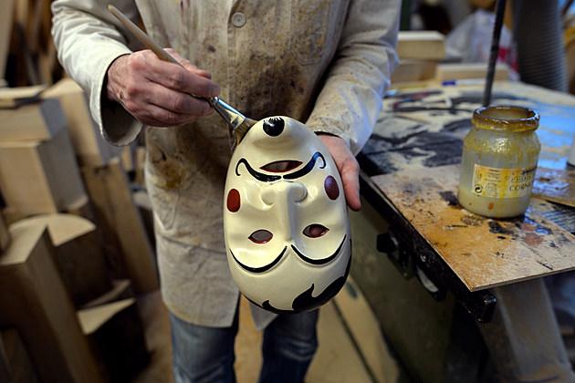 Artisan Crafts Wooden Masks For Carnival