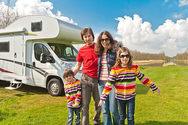 Family vacation, motorhome trip