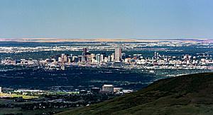 Panoramic Denver skyline
